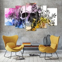 Skull Butterfly Floral 5pcs Diy Diamond Painting Cross Stitch Mosaic Home Decoration Full Diamond Embroidery Decor Gift D44