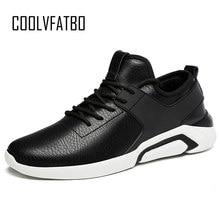 huge selection of 7c1ca be48b COOLVFATBO blanco Popular hombres zapatillas nuevo PU zapatos de cuero para  hombre Lace Up Mans al