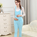 High Quality Maternity Clothing Pants Cartoon Pure Cotton Plus Size Overalls Pregnant Women Large Size Suspender Trousers P72