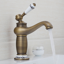 Retro Basin Torneira Bathroom Antique Brass Hot/Cold Water  Single Handle Deck Mounted Sink Faucets,Mixer Taps
