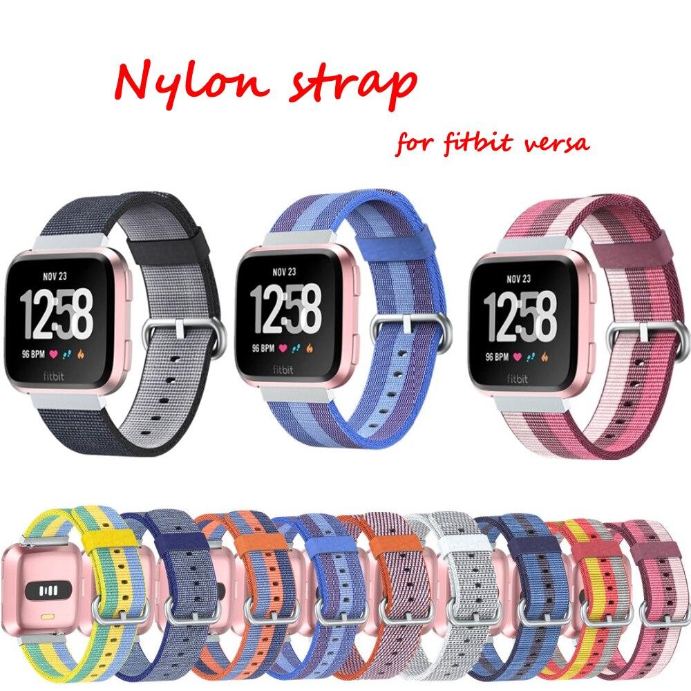 d72b90062a3 Sport Nylon rihm Fitbit Versa rihma rihma jaoks kootud nailonist ...