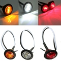 12V-24V Amber Red White LED Side Marker Light Turn Signal Indicator Lamp Car Bus Truck Trailer Caravan Lorry