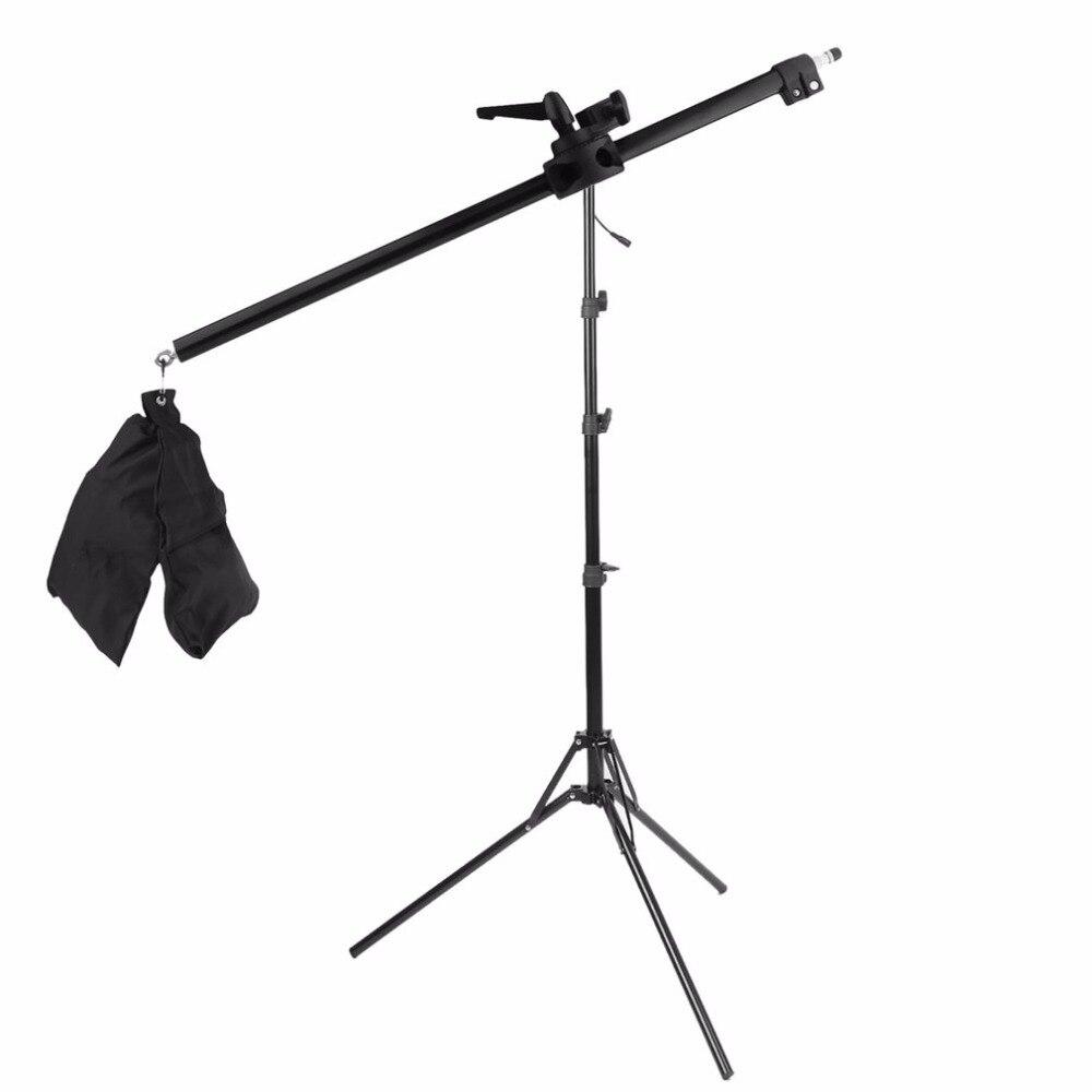 Cámara brazo transversal soporte brazo telescópico estudio Photo Stand luz superior Soporte equipo fotográfico accesorios nave de la gota