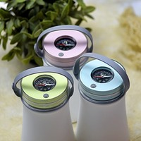 led waterproof silicone rechargeable led night light+compass waterproof USB charge tent camping light hanging lamps