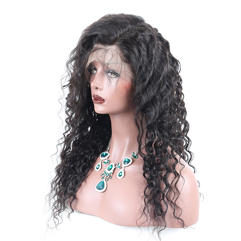 Свободная волна Синтетические волосы на кружеве человеческих волос парики предварительно сорвал бразильский Синтетические волосы на круж...