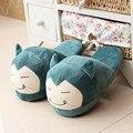 Mujeres anime zapatillas de dibujos animados bola elf eevee umbreon go felpa zapatos de casa de invierno zapatillas niños