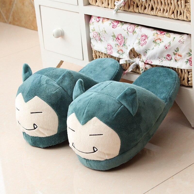Women Anime Cartoon Slippers Elf Ball  Eevee Umbreon Go Plush Shoes Home House Winter Slippers Children