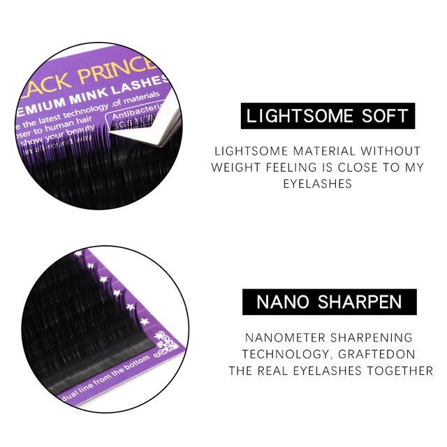 BLACE PRINCE individual mink eyelashes russian volume eyelash extensions supplies mega volume lashes individual lash extension 2