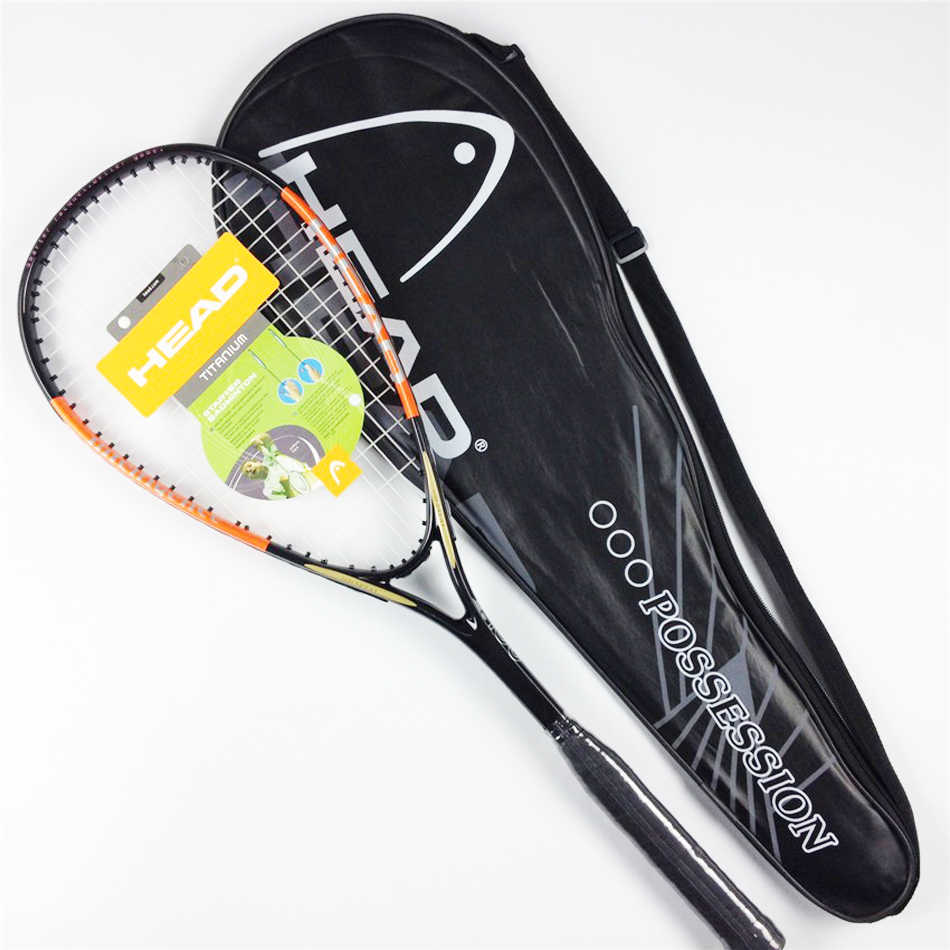 Quality Composite Head Squash Racket With Free Bag Carbon Squash Racquet Orange Blue Squash Racquet Head Squash Racquet Training