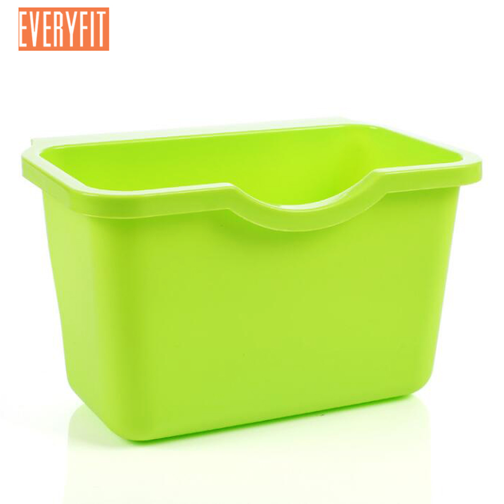 Kitchen Rubbish Storage Box, Cupboard Door Hanging Garbage Cans Desktop Rubbish Organize Container Debris Trash Bins
