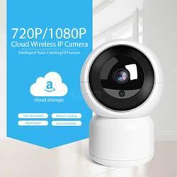 Mini inteligentny kamera IP w domu HD 2.0MP CCTV Wifi Cam dwukierunkowy głos 360 ° widok inteligentny Alarm noc wizja pamięci masowej w chmurze