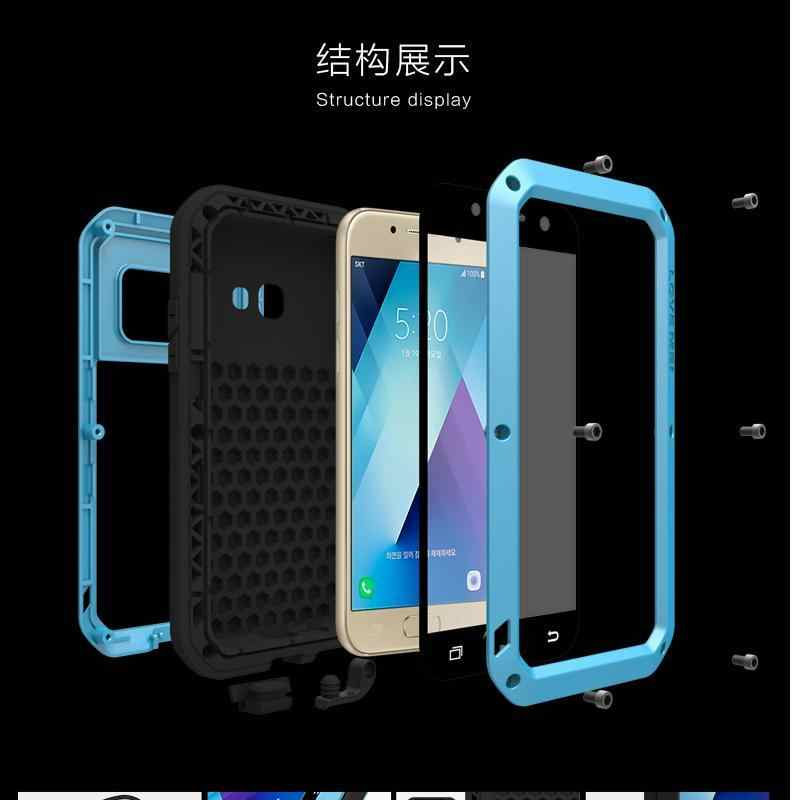 in stock 17254 ddcce Love Mei Waterproof Case for SAMSUNG Galaxy Note 9 8 5 4 A3 A5 A7 A9 A6 A8  2016/2017/2018 S6 S7 edge S8 S9 Plus Metal Armor Case