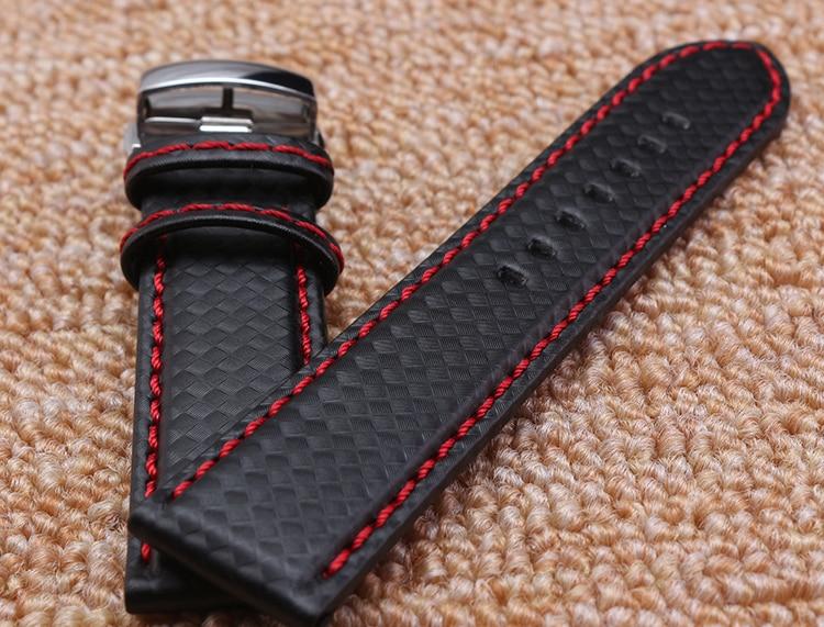 Pulseira de relógio 18mm 20mm 22mm 24mm Popular Red Costura tecido - Acessórios para relógios - Foto 3