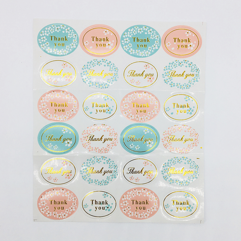 48pcs Glitter Color Stickers Thank you Envelope Seals Candy Sticker 3.5cm for Kid's Party Birthday Baby Shower Decor Paper Bags