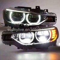 LED Angel Eyes Headlight For BMW F30 F35 318 320 325 328 330 335