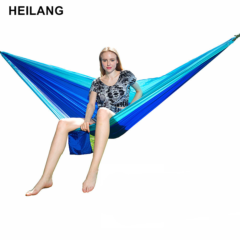 Ultralight Parachute Hammock Durable Portable Outdoor Backpacking Travel Survival Hanging Hamac For Backyard Double Person HamaK godfire sh t60 3 mode 800lm white flashlight w strap black 1 x 18650
