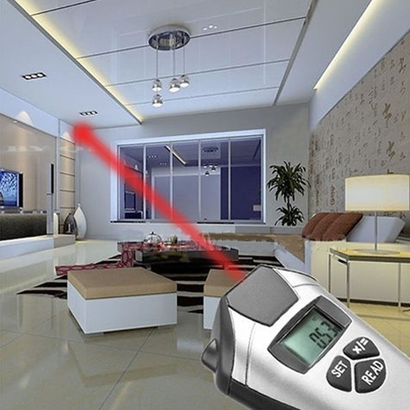 Electronic Tape Measure Laser Pointer Ultrasonic Distance Meter Measurement High Quality
