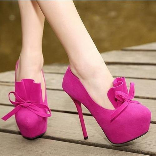 ФОТО Free shipping 2016 new Women  bow shoes with a single ultra-thin sweet princess party shoes high heel Women pumps 305