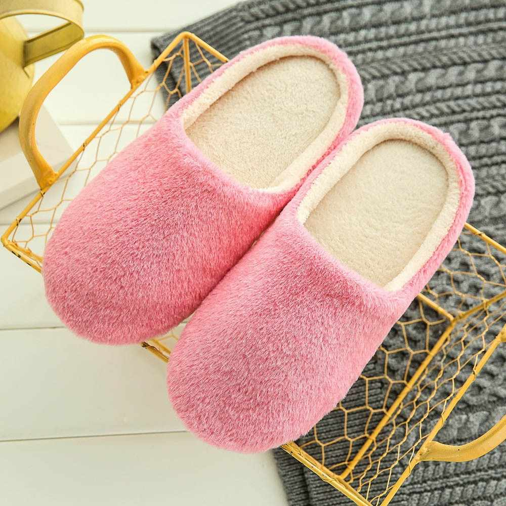 Slippers women 2019 interior house plush soft cute cotton Slippers Shoes non-slip floor furry Slippers women Shoes for bedroom