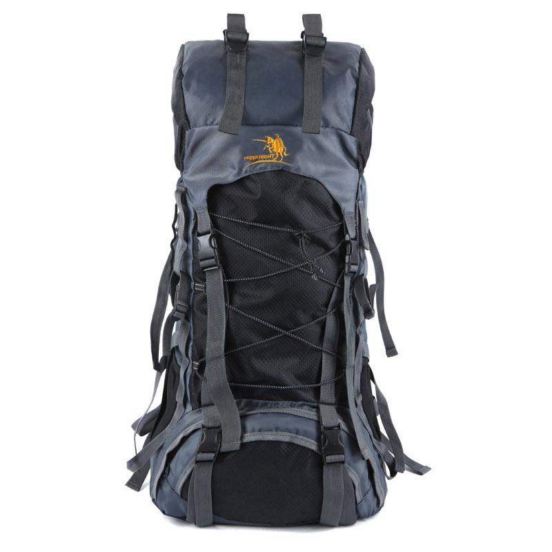 60L Large Professional Mountain Backpack Brand Outdoor Nylon Sport Rucksack Hiking Cycling Camping Travel Bag mochila jsz super light cycling sport nylon backpack bag black grey