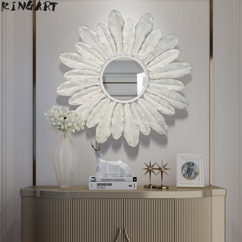 Grand miroir mural salle de bain décoration murale en métal salon mur miroir créatif Antique mur miroir décoration de la maison