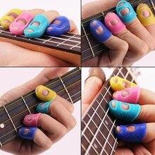 4 шт. гитары Fingertip протекторы защита пальцев для Гавайские гитары укулеле аксессуары
