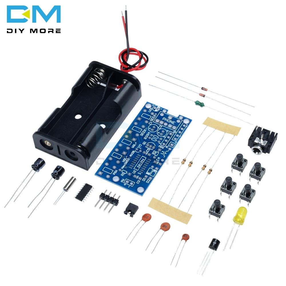 Wireless Stereo FM Radio Receiver Module PCB FM DIY Electronic Kits 76MHz-108MHz