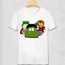 South Park T Shirt New York Geek Funny Design T-shirt Stan Marsh Kenny Diy Cartoon Short Sleeve O Neck Tees