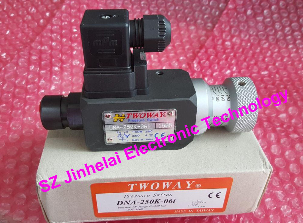 New and original DNA-250K-06I  TWOWAY Pressure switch, Air pressure relay switch  40-250 bar  Made in Taiwan new and original mbs3000 060g1109 pressure switch 0 400bar 4 20ma g1 4a