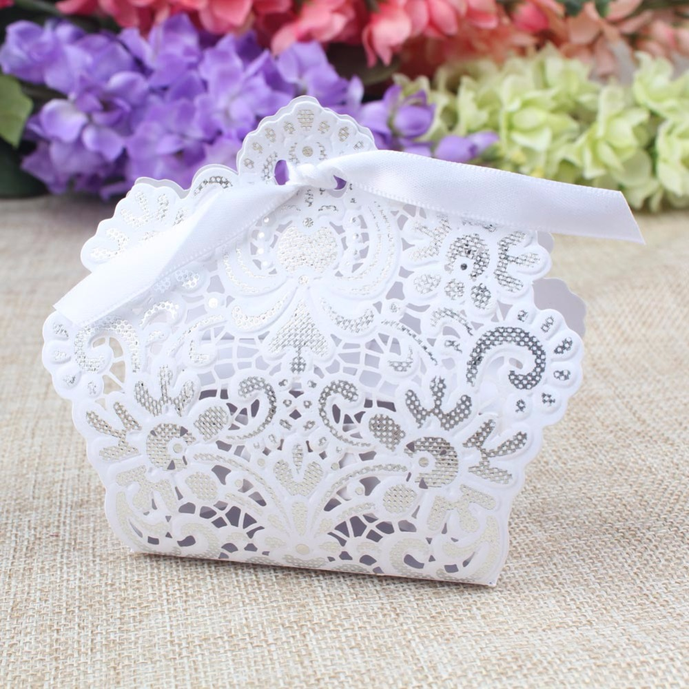 50pcs Candy Box for Party Decorations Romantic Paper Gift Bags ...