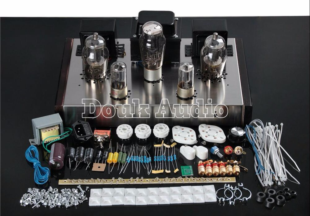 где купить  Douk Audio 6N8P+FU25 Class A Single Ended Home Audio Power Tube Amplifier HiFi Valve Stereo Integrated Amp  DIY KIT  по лучшей цене