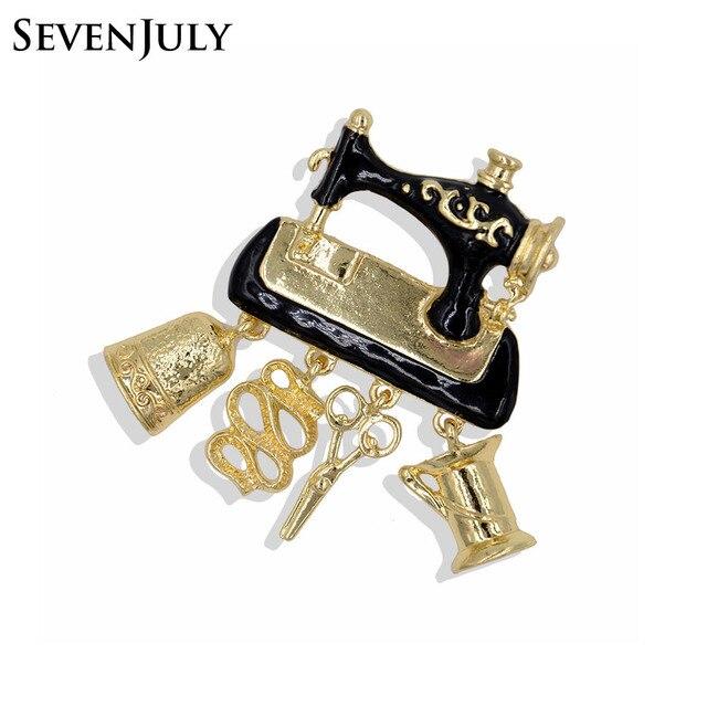 Эмаль швейная машина брошь металлическая подвеска ножницы колокол Женская одежда Модные украшения аксессуар