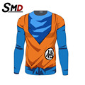 2016 homme 3d Anime dragon ball t camisa de Manga Larga T-shirt Ropa de hombre Super Saiyan Goku Dragon Ball z Custume S-XXXL