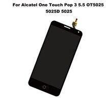 "Black Touch Screen Digitizer Glass Sensor+LCD Screen 5.5"" For Alcatel Pop3 5025D 5025E 5025G 5025N 5025X Replacement"