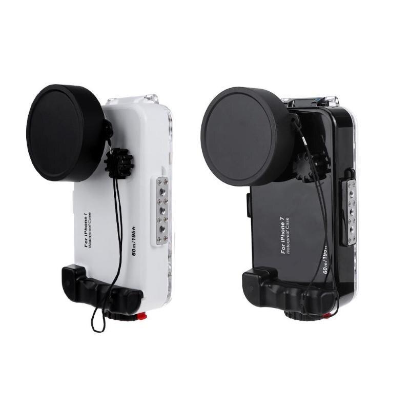 ALLOET pour iPhone 7 étui étanche IPX8 60 m/197ft plongée sous-marine anti-déflagrant téléphone lentille photographie étuis pour iPhone 7