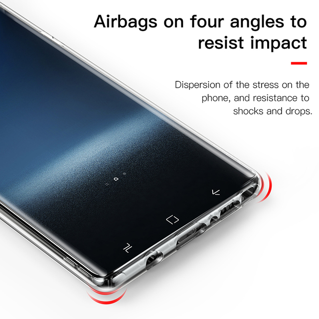 Baseus Samsung Galaxy Note 9 Anti-shock Silicone Soft TPU Transparent Protective Back Case Cover