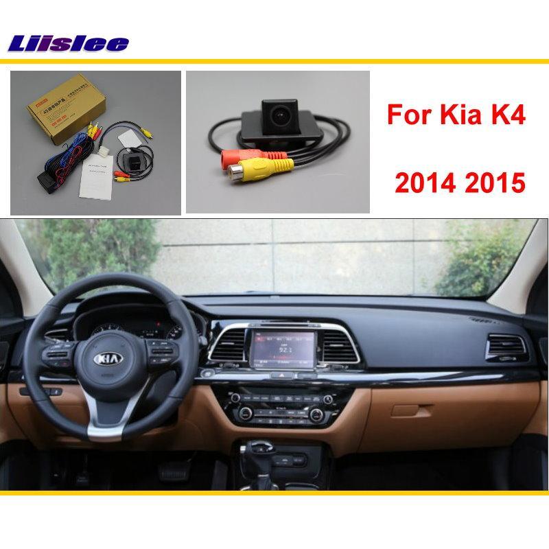 Liislee Pro Kia K4 2015 2016 2017 Zadní zadní parkovací vozík Reverse Camera / RCA & Original Screen Kompatibilní