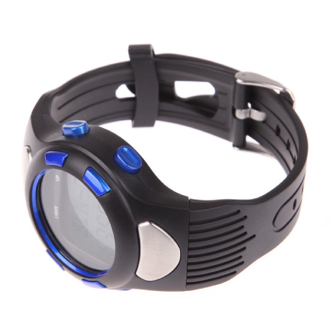 Одежда высшего качества 3D Шагомер монитор сердечного ритма наручные часы для бега Фитнес с Подсветка синий