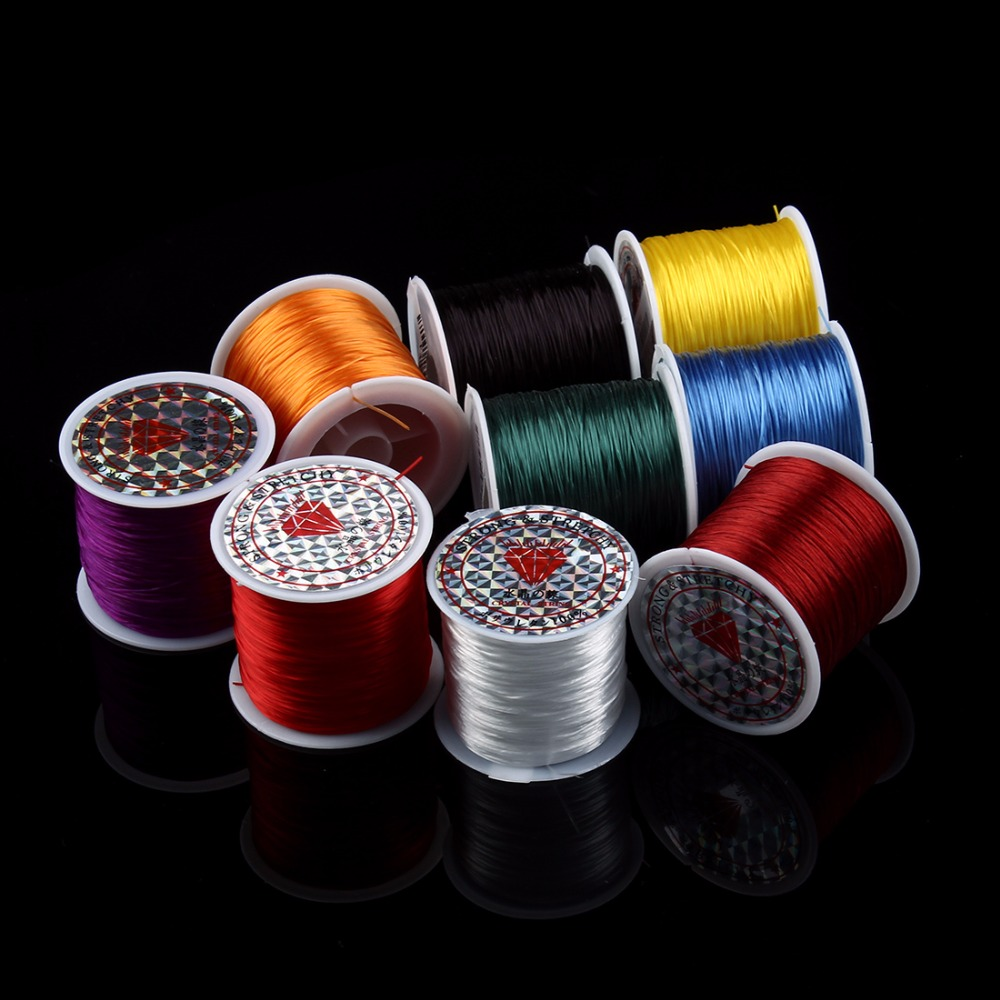 1 Roll 80yards Elastic Strong Stretchy Beading Thread Cord Bracelet String 0.8mm