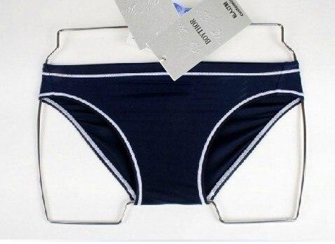 Privado personalizado boythor uma nova marca terno masculino azul escuro cintura baixa troncos de natação sexy de secagem rápida esportes natação