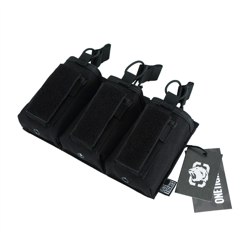 Onetigris Open-top Triple Rifle/pistol Magazine Pouch Tactical M4/m16/sa80//g36/ak47/ak74 Mag Pouch For Airsoft Paintball Meticulous Dyeing Processes Pouches