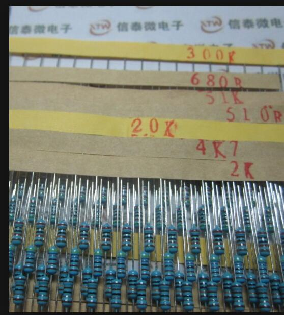 Set 600pcs 30 Kind 1/4W Resistance 1% Metal Film Resistor Assorted Kit Each 20 Free Shipping For Arduino