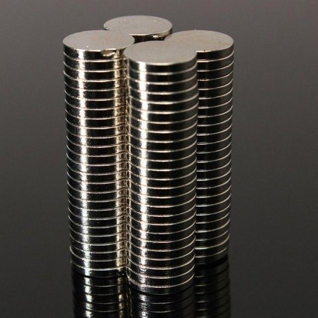 50 pcs Strong Round Dia. 8mm x 1.5mm Rare Earth Neodymium Magnet Art Craft Fridge HH3