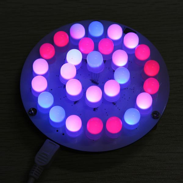 28 pcs Full Color RGB 10 MM botão Sensível Ao Toque LEVOU Aurora Torres Kit luz suave parte DIY kit de peças de reposição frete Grátis
