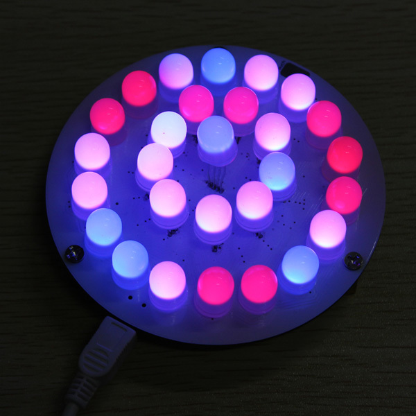 28pcs Full Color RGB 10MM LED Touch button Aurora Towers Kit soft light DIY part kit spare parts Free Shipping