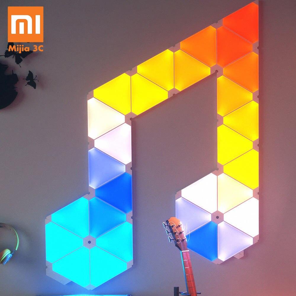 D'origine Xiaomi Nanoleaf Couleur Smart Lumière Étrange Travaux Du Conseil D'administration avec Mijia pour Apple Homekit Google Accueil Personnalisé Cadre 4 pièces/1 boîte