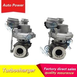 Twin turbo MGT2256S 793647 0002 821719 5004S N63 B44 turbosprężarki silnika dla BMW X6 X5 napęd 2008 10 BMW serii 5 E71 w Sprężarki od Samochody i motocykle na