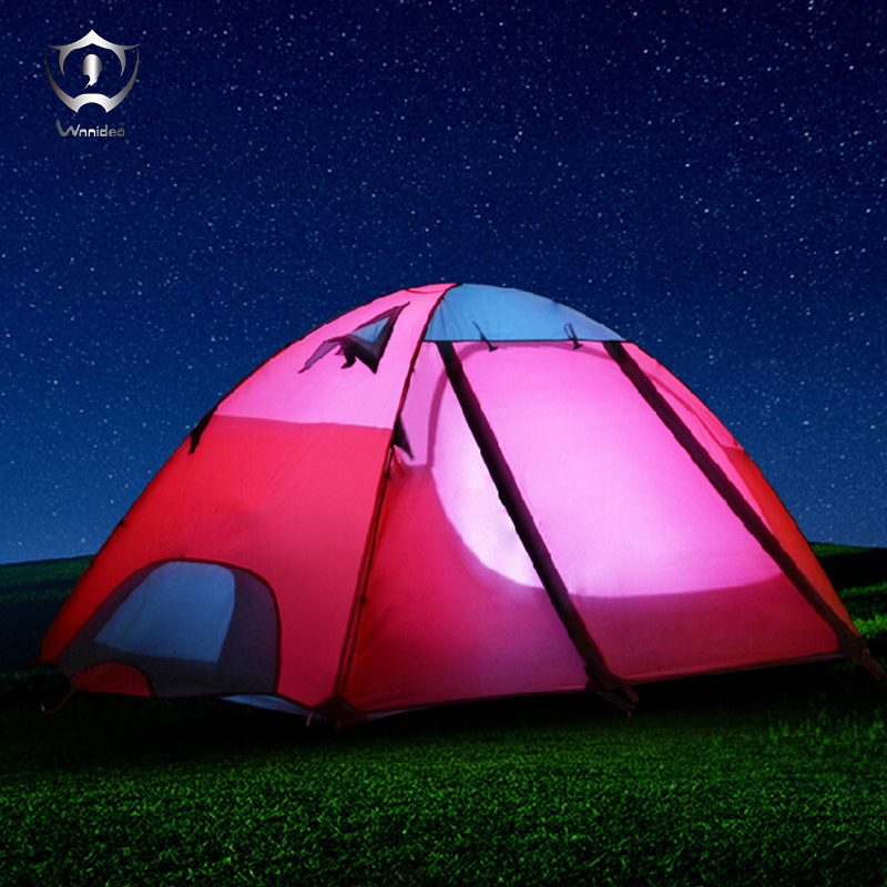 Wnnideo 2 Person Double Layer Tent for Couple Outdoor Activities Waterproof Camping Hiking Beach Tent Multi-color outdoor camping hiking automatic camping tent 4person double layer family tent sun shelter gazebo beach tent awning tourist tent