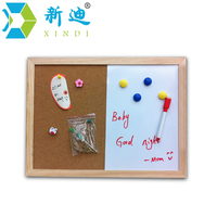 Free Shipping Natural Combination Cork Board And White Board Kitchen Office Supplier 30 40cm Factory Direct