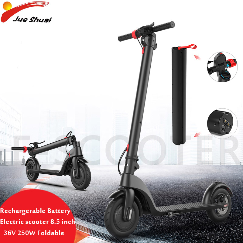 8.5 inch Electric Scooter Rechargeable Battery 36V 250W Adult Electric Motor Foldable Electric Kick Scooter e scooter Skateboard8.5 inch Electric Scooter Rechargeable Battery 36V 250W Adult Electric Motor Foldable Electric Kick Scooter e scooter Skateboard